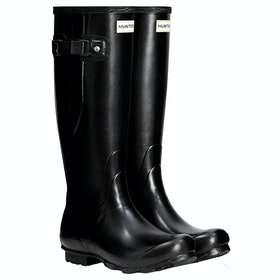 Hunter Norris Field Side Adjustable Ladies Wellies - Black