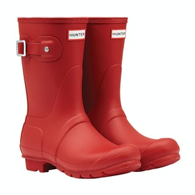 Hunter Original Short Ladies Wellies - Military Red
