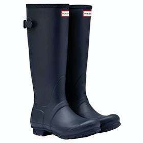 Hunter Original Back Adjustable Ladies Wellies - Navy