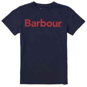 Barbour Logo Boys Short Sleeve T-Shirt - Navy