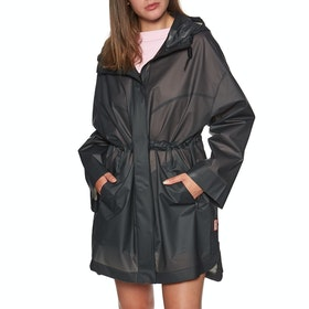 Hunter Original Vinyl Oversized Rain Damen Jacke - Black