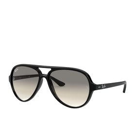 Ray-Ban Cats 5000 Aviator Sunglasses - Black~crystal Grey Gradient