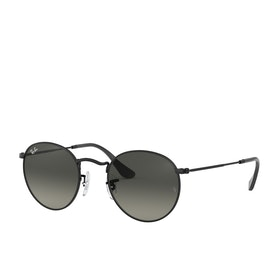 Ray-Ban Round Metal Sunglasses - Black~grey Gradient Dark Grey