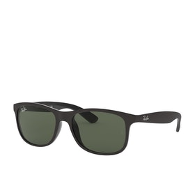 Ray-Ban Andy Sunglasses - Matte Black~dark Green