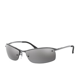 Ray-Ban RB3183 Sunglasses - Gunmetal ~ Polar Grey Mirror Silver Grad