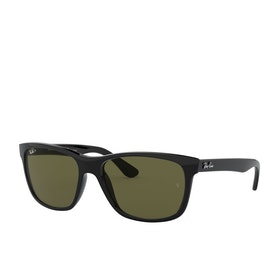 Ray-Ban Rb4181 Sunglasses - Shiny Black~polar Green