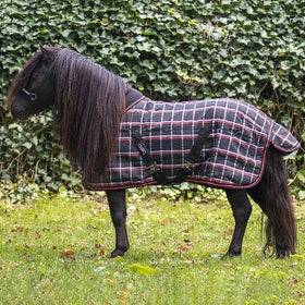 QHP Falabella 200g Stable Rug - Black Check