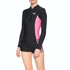 Roxy 1.5m Popsurf Shorty FZ Womens Wetsuit - Black