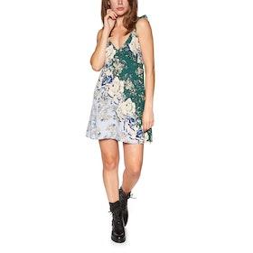 Free People Lauria Printed Mini Dress - Pine