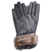 Barbour Fur Trimmed Leather Women's Gloves