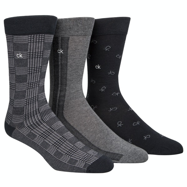 Calvin Klein 3 Pack Crew Fashion Socks