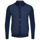Hackett Contrast Front Panel Wool Кардиган