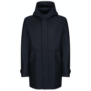 Harris Wharf London Long Parka Pressed Wool Jacket
