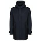Harris Wharf London Long Parka Pressed Wool Jacket