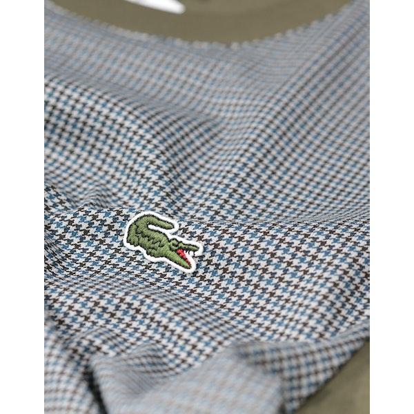 Lacoste Check Paneled Patchwork Koszulka z krótkim rękawem