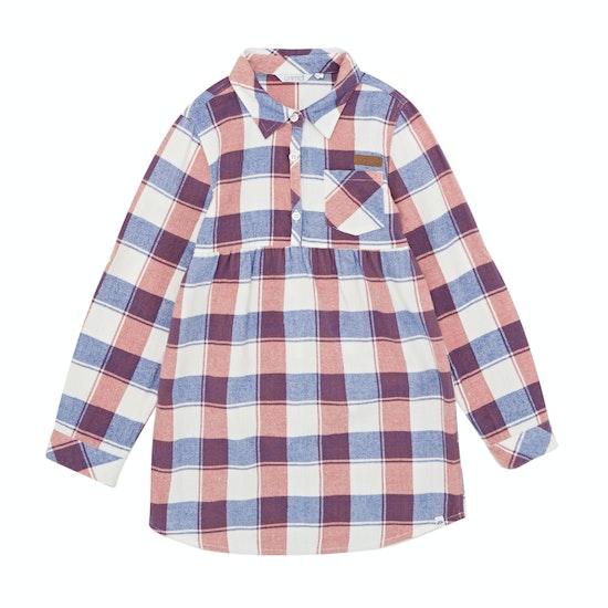 Animal Checka Shirt Girls Dress