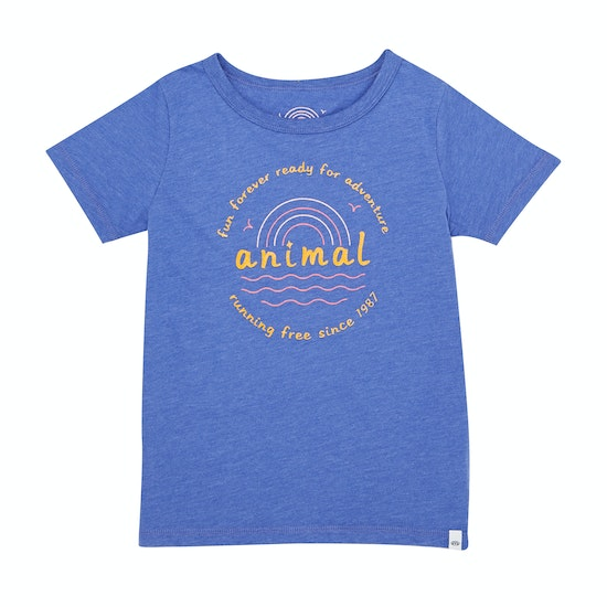 Animal Horizon Graphic Girls Short Sleeve T-Shirt