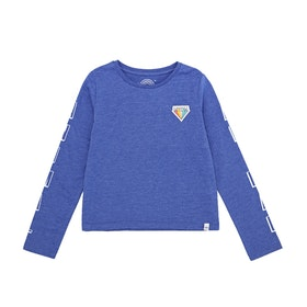 Animal Lapiz Girls Long Sleeve T-Shirt - Amparo Blue Marl