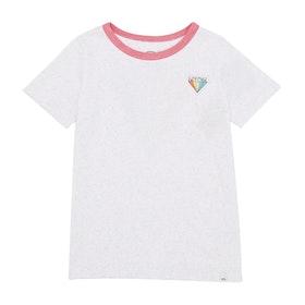 Camiseta de manga corta Girls Animal Missy Deluxe Graphic - White