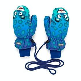 Barts Nylon Mitts Kids Snow Gloves - Leopard Blue