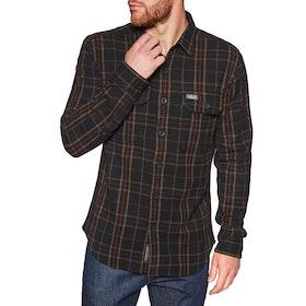 Superdry Merchant Milled Shirt - Black Check