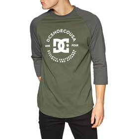 DC Reversism Raglan Long Sleeve T-Shirt - Fatigue Green Dark Olive