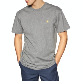 T-Shirt à Manche Courte Carhartt Chase - Dark Grey Heather / Gold