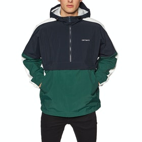 Carhartt Barnes Pullover Jacket - Dark Navy Fir Wax