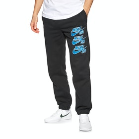 Nike SB Triple Stack Fleece Joggingbukser - Black Blue Stardust