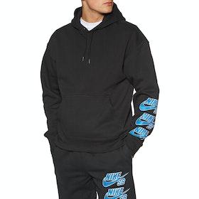Nike SB Triple Stack Pullover Hoody - Black/blue Stardust