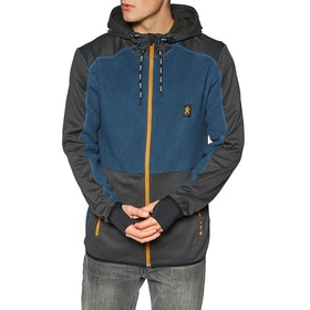 Polaire Bula Fleece Zip Hood - Denim