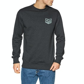 Sweat Vissla Defender Upcycled Crew - Black Heather