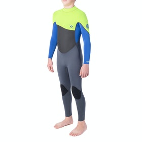 Rip Curl Omega 5/3mm Back Zip Boys Wetsuit - Lime