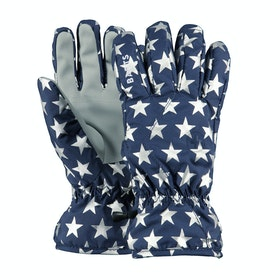 Barts Basic Kids Snow Gloves - Blue Stars