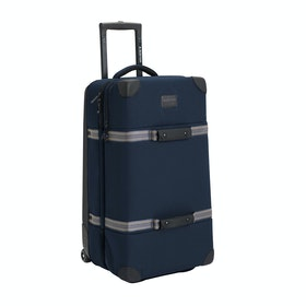 Burton Wheelie Double Deck Luggage - Dress Blue Waxed