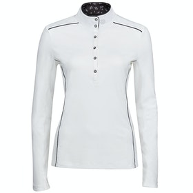 Dublin Sadie Long Sleeve Competition Shirt - White