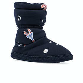 Joules Padabout Boys Slippers - Navy Rockets