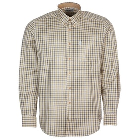 Barbour Sporting Tattersall Relaxed Fit Mens Shirt - Navy Olive New