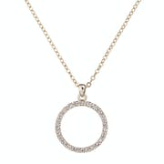 Ted Baker Linzzi Luunar Pave Circle Pendant Necklace