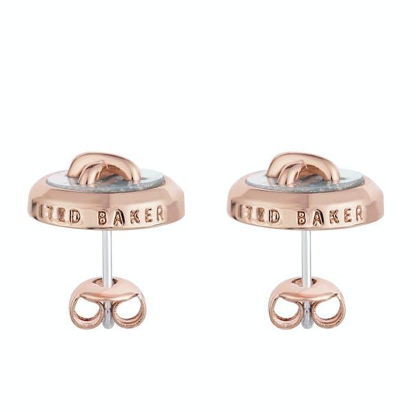 Ted Baker Bernett Mother Of Pearl Button Stud Earrings