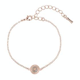 Ted Baker Eisa: Enamel Mini Button Bracelet - Rose Gold Silver Glitter