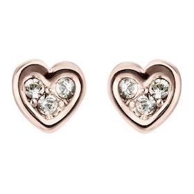 Ted Baker Neena: Nano Heart Stud Earrings - Rose Gold