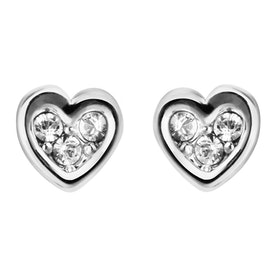 Ted Baker Neena: Nano Heart Stud Earrings - Silver