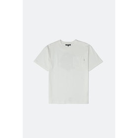 Chari & Co Stickers Pocket S S T-Shirt - White