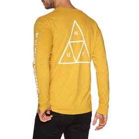 T-Shirt à Manche Longue Huf Essentials Triple Triangle - Sauterne