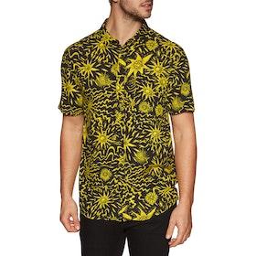 Quiksilver Ningaloo Reef Short Sleeve Shirt - Black Desert Tripper