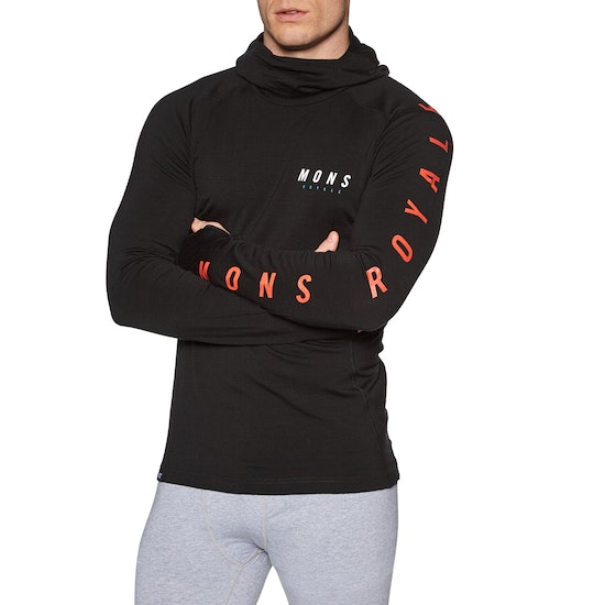Mons Royale Olympus 3.0 Pullover Hood Base Layer Top