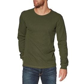 Rhythm Waffle Long Sleeve T-Shirt - Olive