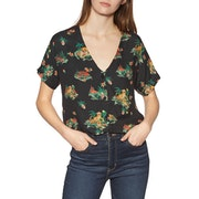 RVCA Voyage Womens Short Sleeve Shirt