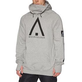 Wear Colour Bowl Pullover Hoody - Grey Melange